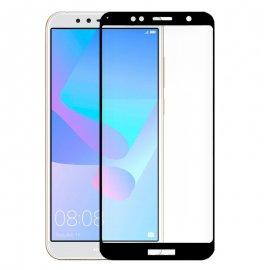 Protector Cristal Templado Huawei Y6 2018 Hornor 7a 3d Negro