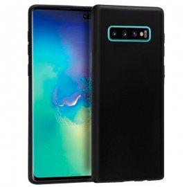 Funda Silicona y Aluminio Samsung S10 Plus Negra