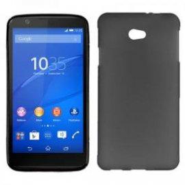 Funda Silicona Sony Xperia E4 Negra