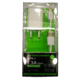 Cargador de Casa 5v/2.1a con Cables Tipo C Emovitel