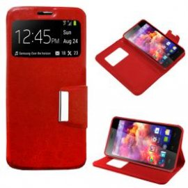 Funda Libro Wiko Bloom 2 Roja
