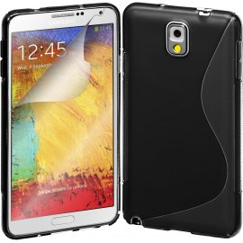 Funda Silicona Samsung Galaxy Note 4 Negra