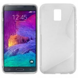 Funda Silicona Samsung Galaxy Note 4 Transparente