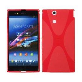 Funda Silicona Sony Xperia Z Ultra Rojo