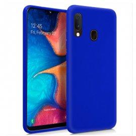 Funda Silicona Samsung A20e Azul