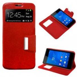 Funda Libro Sony Xperia Z4 Roja
