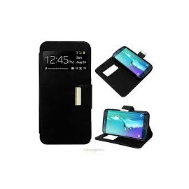 Funda Libro Samsung Galaxy S6 Edge Plus Negra