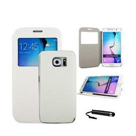Funda Libro Samsung Galaxy S6 Edge Plus Blanco