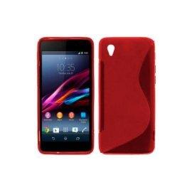 Funda Silicona Sony Xperia Z1 Rojo