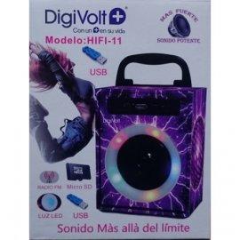 Altavoz Digivolt con Caraoque Bluetooth Fm y Puerto Usb