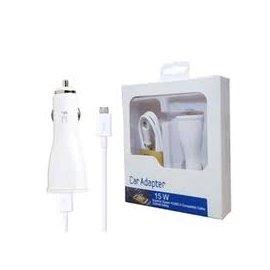 Cargador Original Samsung de Coche 2ap con Cable Blanco