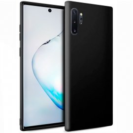 Funda Silicona Samsung Note 10 Plus Negra