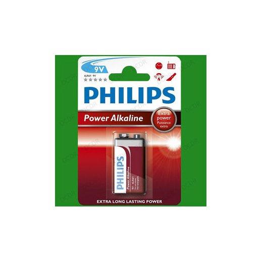 Pila Philips 9v Power Alkaline 6lr61 - Foto 1