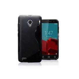 Funda Silicona Vodafone Smart Prime 6 Negra
