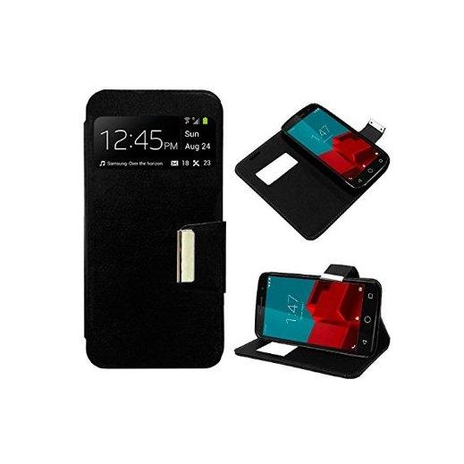 Funda Flip Cover Vodafone Smart Prime 6 Negra - Foto 1