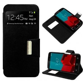 Funda Flip Cover Vodafone Smart Prime 6 Negra