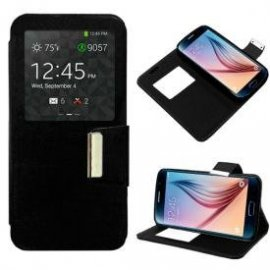 Funda Libro Vodafone Smart 4 Negra
