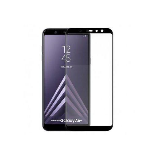 Protector Cristal Templado Samsung A6 Plus Negro 3d - Foto 1