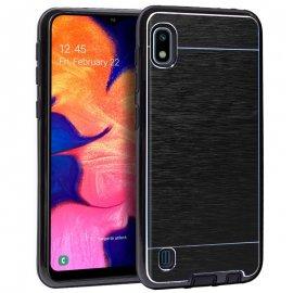 Funda Silicona y Aluminio Samsung A10 Negra