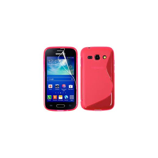 Funda Silicona Samsung Galaxy Ace 4 Rojo - Foto 1