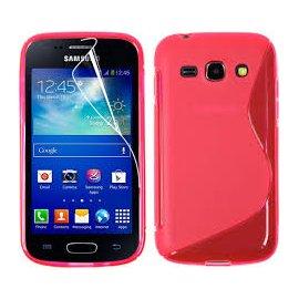 Funda Silicona Samsung Galaxy Ace 4 Rojo