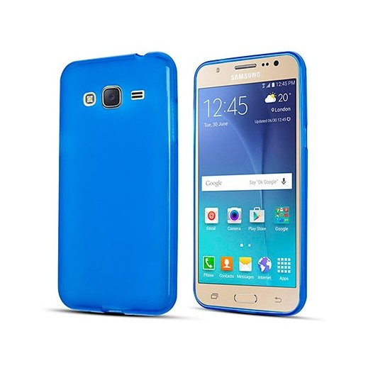 Funda Silicona Samsung Galaxy J3 2017 Azul - Foto 1