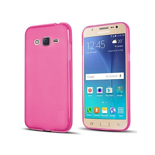 Funda Silicona Samsung Galaxy J3 2017 Rosa - Foto 1
