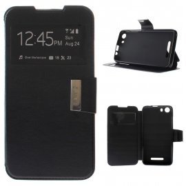 Funda Libro Bq Aquaris X5 Plus Negra