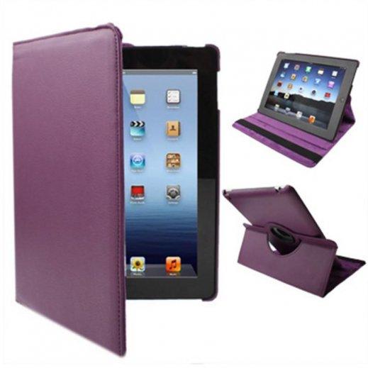 Funda Ipad 2 / Ipad 3 / 4 Giratoria Polipiel Color Violeta (soporte) - Foto 1