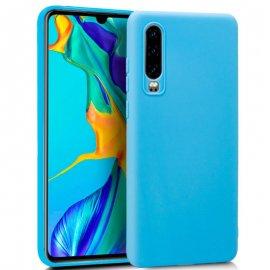 Funda Silicona Huawei P30 Azul Celeste