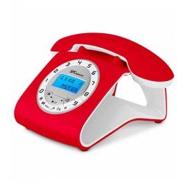Telefono Spc Telecom Retro Md 3606 Rojo y Blanco