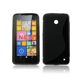 Funda Silicona Nokia 630 Negra