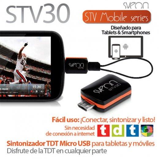 Sintonizador Tdt Micro Usb Sveon Stv30 - Foto 1