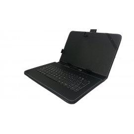 """Funda Libro para Tablet 10"""" con Teclado"""