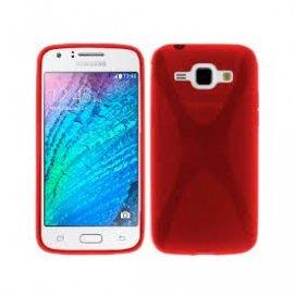 Funda Silicona Samsung Galaxy J1 2016 Roja