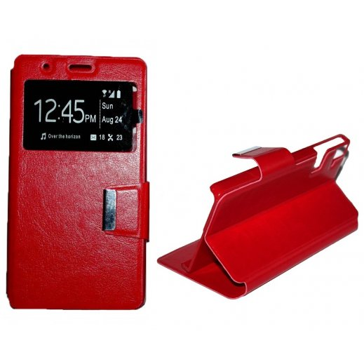 "Funda Libro Alcatel Pop 4 (5"") Roja - Foto 1"