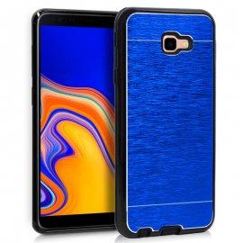 Funda Silicona y Aluminio Samsung J4 Plus Azul