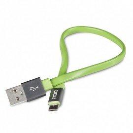 Cable Plano Dcu Verde Micro Usb 0.2 M