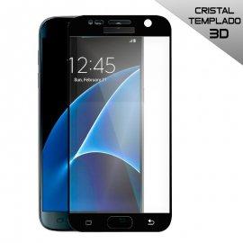 Protector de Cristal Templado Curvo Samsung Galaxy S7 Negro