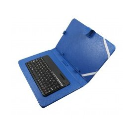 Funda Tablet con Teclado Keyboard Color Azul-negra 6-7 Pulgadas Mtk