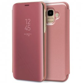Funda Rigida Clear View Rosa Samsung J600 J6