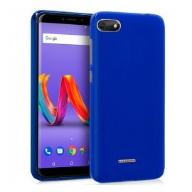Funda Silicona Wiko Harry 2 Azul