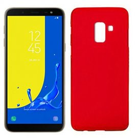 Funda Silicona Samsung J6 2018 Roja