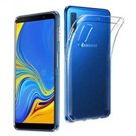 Funda Silicona Samsung A7 2018 Transparente