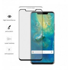 Protector Cristal Templado Huawei Mate 20 Negro
