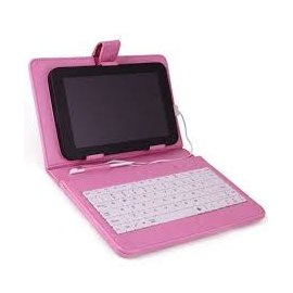 Funda Tablet 10.1 con Teclado Color Rosa
