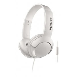 Auriculares Philips Bass + Microfono Shl3075wt Blancos