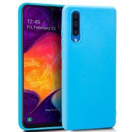 Funda Silicona Samsung A50 A20 A30s Azul Cielo