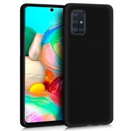 Funda Silicona Samsung A71 - A715 Negra