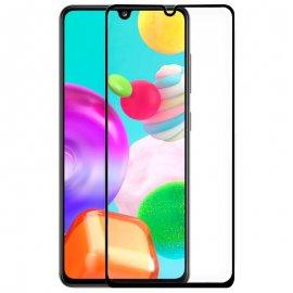 Protector Cristal Templado Samsung A41 Negro